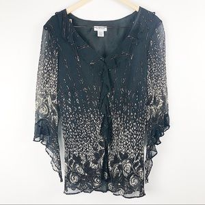 Avenue cream and black floral blouse size 18/20